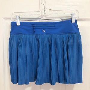 Lululemon Blue Pleated Skirt